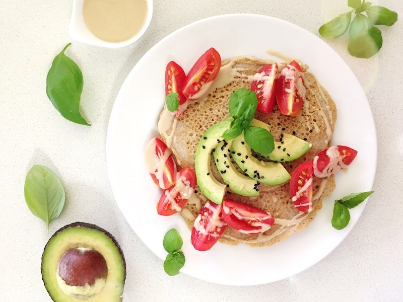 Simple Savoury Buckwheat Pancakes