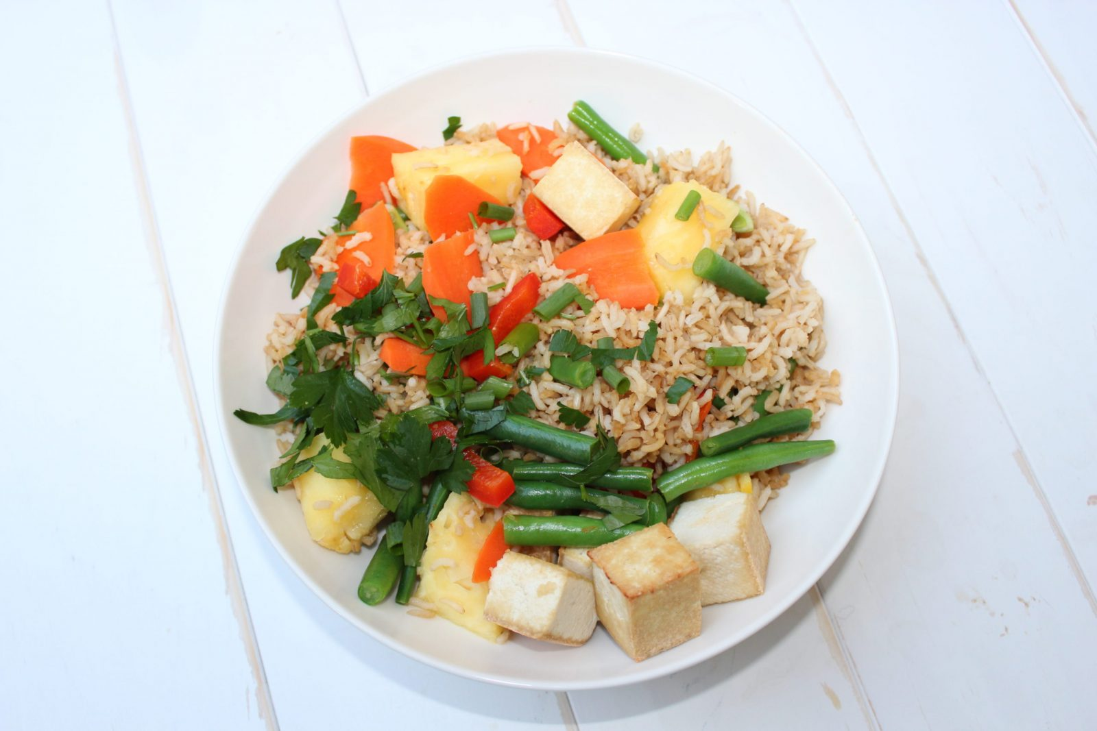 Tangy Fried Brown Rice