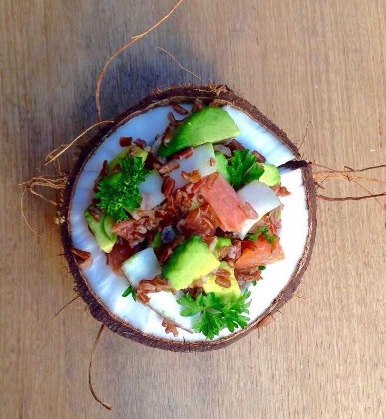 Coconut Avocado & Pink Grapefruit Salad