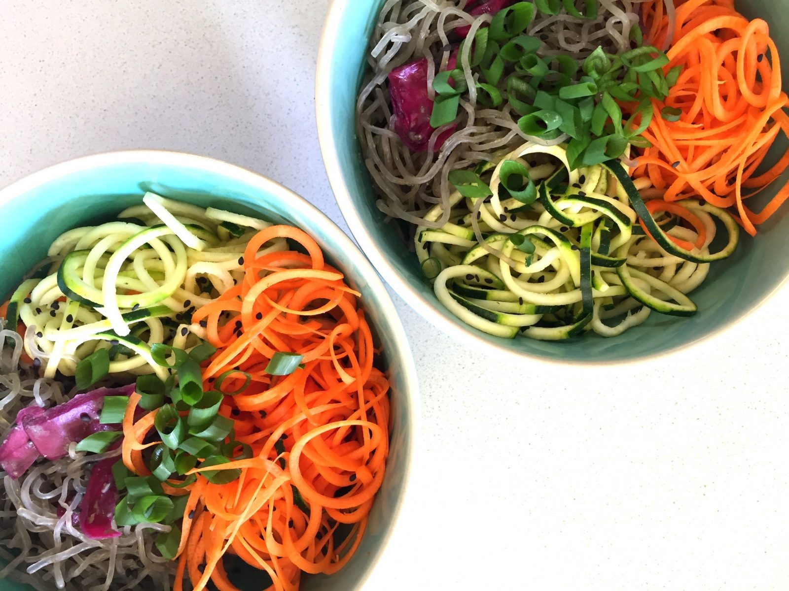 Asian Kelp Noodle Salad w. Miso Ginger Dressing