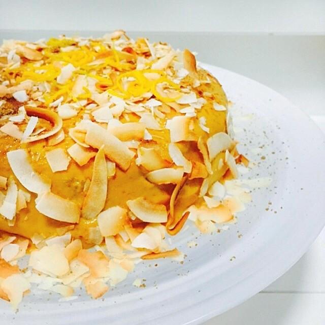 Coconut & Cardamom Carrot Cake