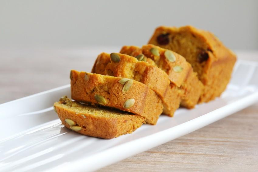 Raspberry & Pecan Pumpkin Loaf