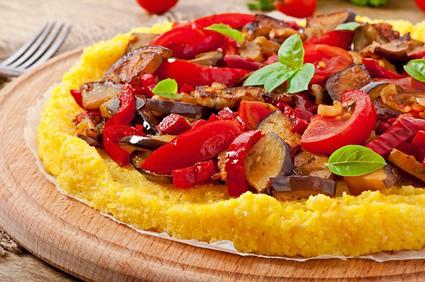 Mediterranean Polenta Pizza