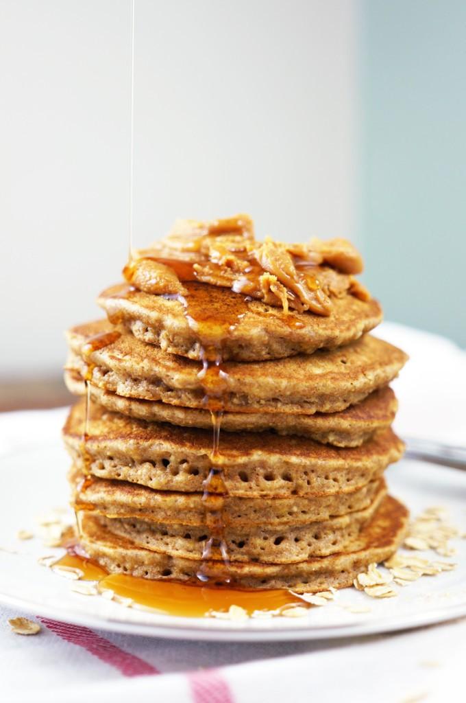 Caramel Pecan Pancakes