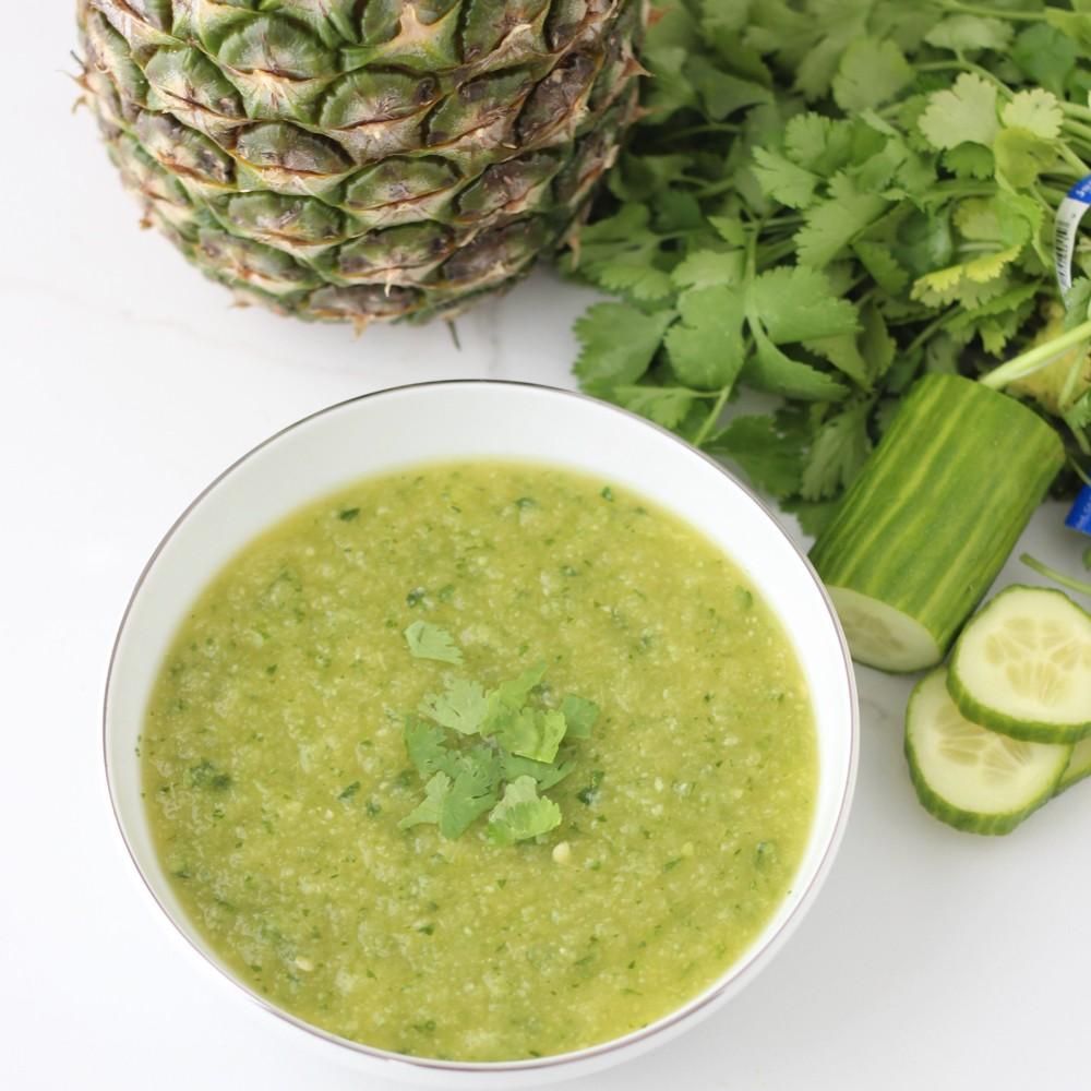 Pineapple & Cucumber Gazpacho