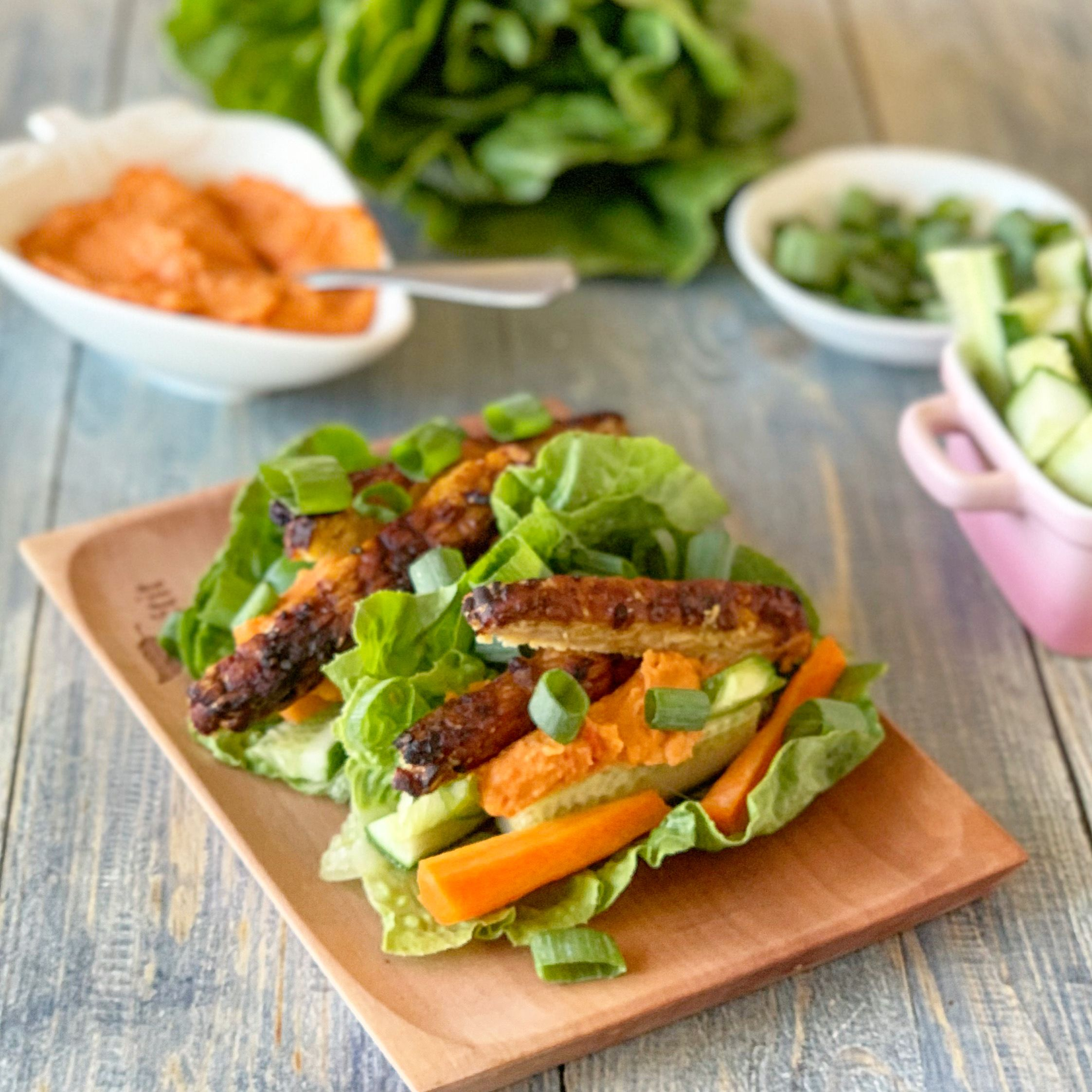 Veggie Loaded Capscium & Hummus Lettuce Wraps