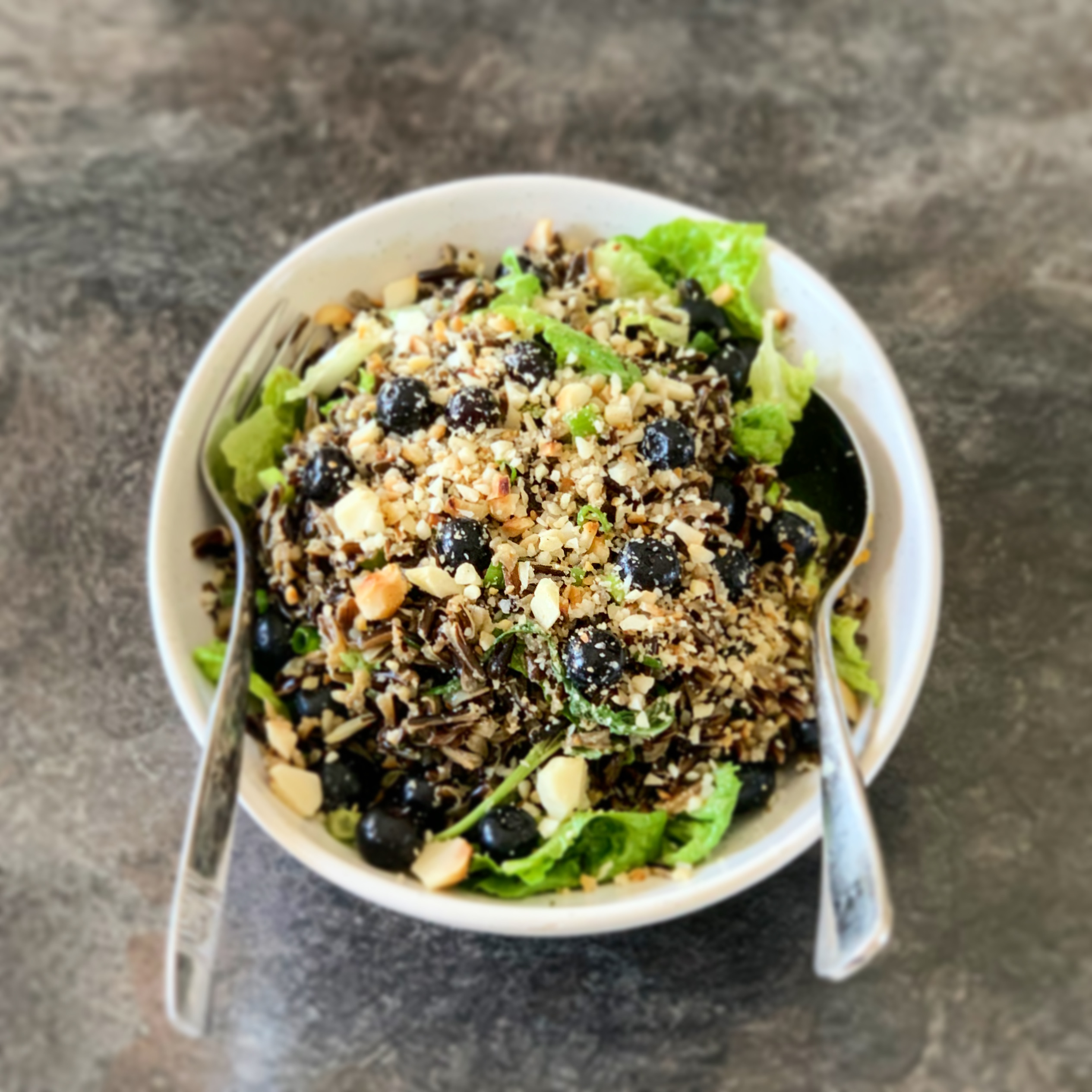 Blueberry, Macadamia & Wild Rice Salad